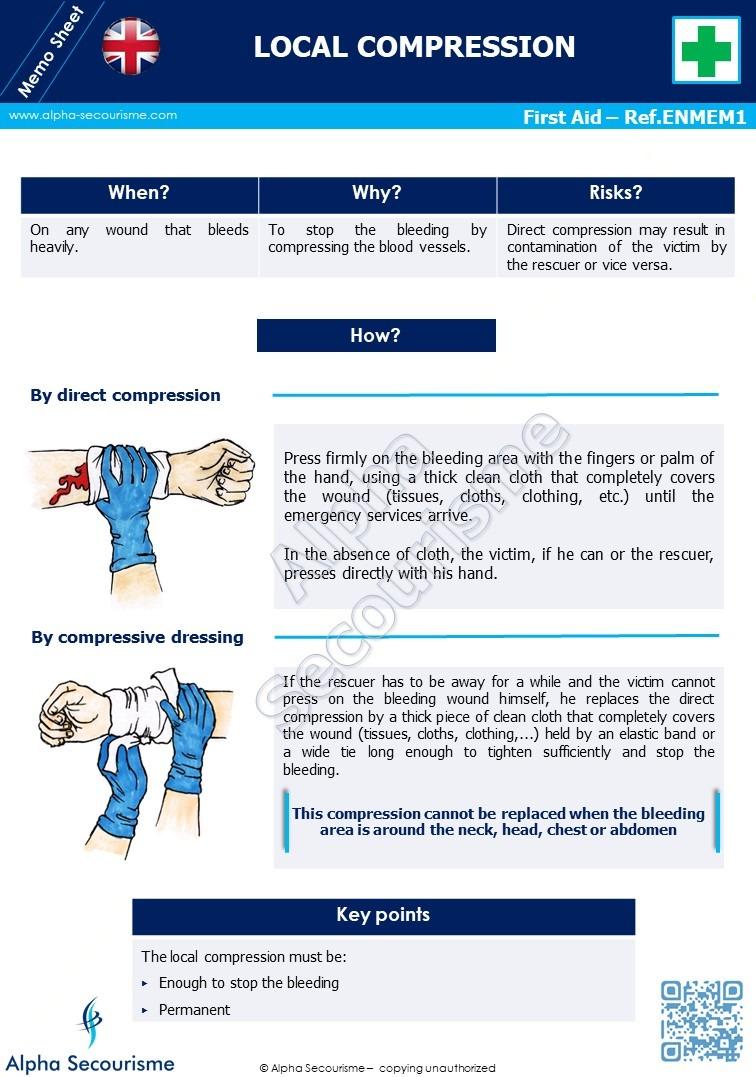 Memo Sheet First Aid 1 - Alpha Secourisme