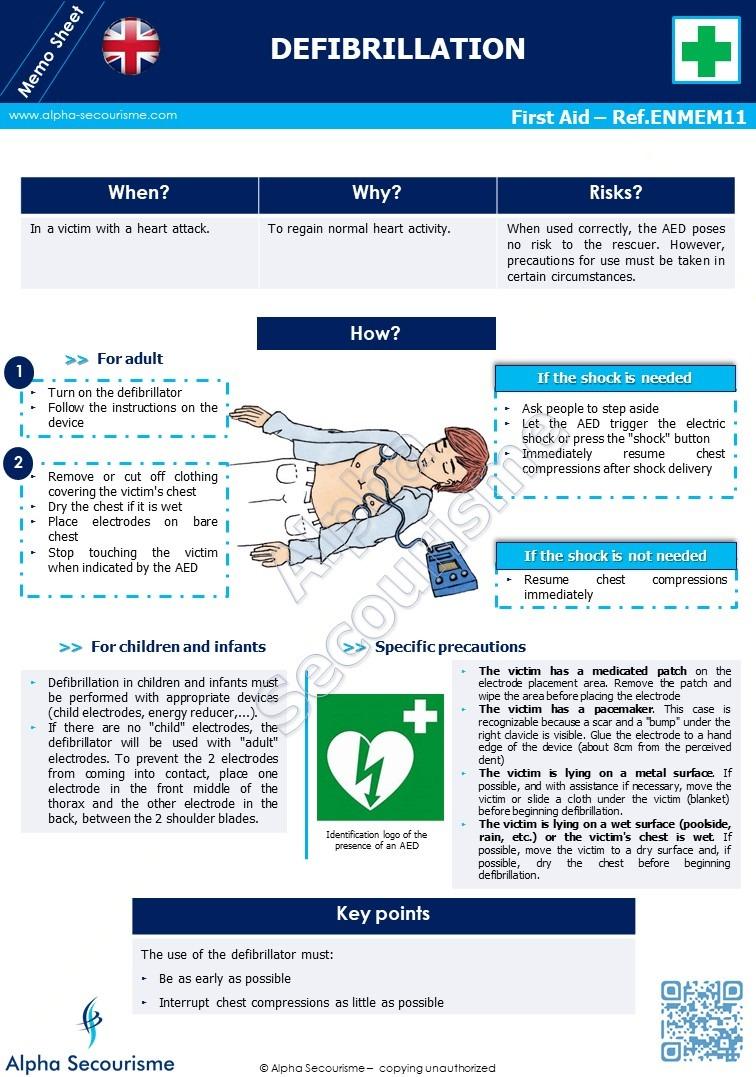Memo Sheet First Aid 11 - Alpha Secourisme