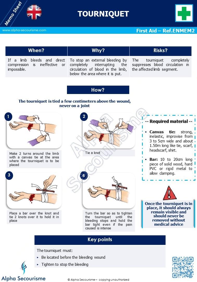 Memo Sheet First Aid 2 - Alpha Secourisme