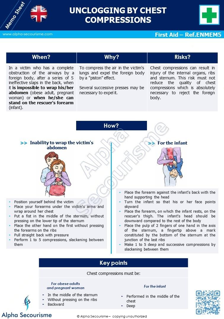 Memo Sheet First Aid 5 - Alpha Secourisme