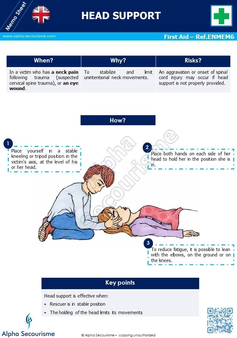 Memo Sheet First Aid 6 - Alpha Secourisme