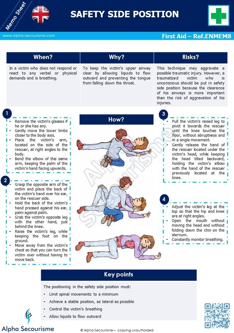 Memo Sheet First Aid 8 - Alpha Secourisme